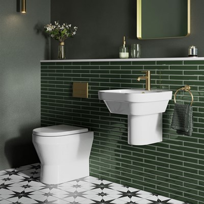 Britton Curve2 Ceramics Collection | Contemporary Bathroom
